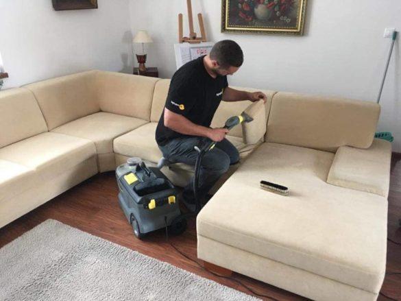 Extrakčné čistenie sedačky – tepovanie